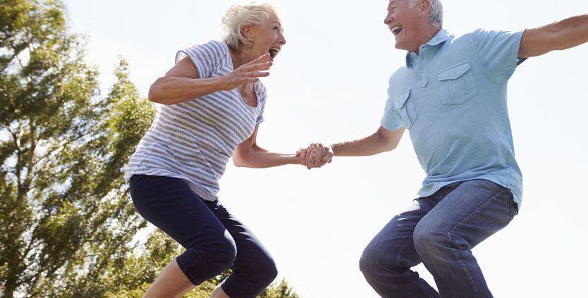Trampolinespringen gezonder dan hardlopen