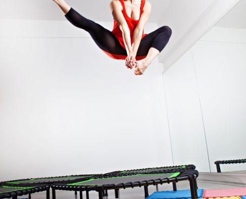 spieren versterken met trampolinespringen